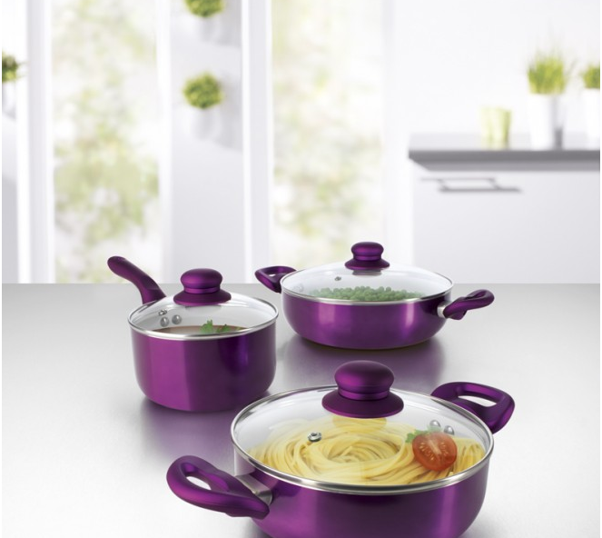 6pcs ceramic cookware set